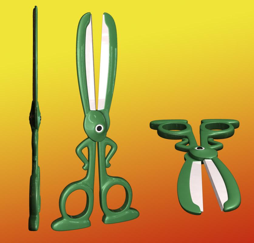 rabbit scissors 3d model