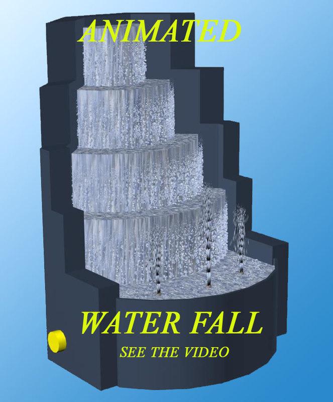 3d water fall model