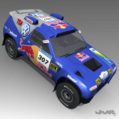 3d volkswagen touareg rally