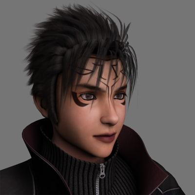 finalfantasy dark prince realistic male 3d model
