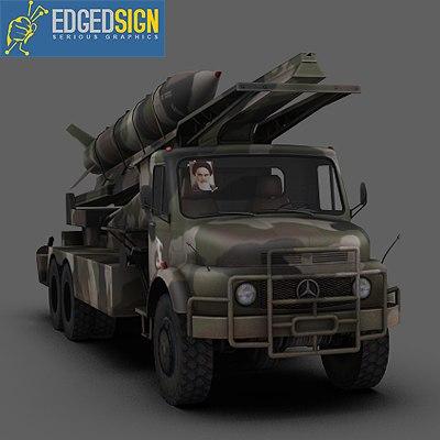 zelzal ballistic missile rocket 3d model
