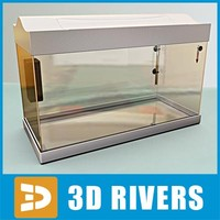 glass aquarium 3d model