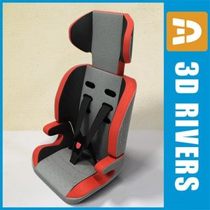 3ds max baby car seat