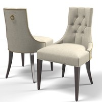 baker dining chair 3d model