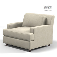 baker jaques garcia 3766-38 pasha lounge chair armchair modern contemporary