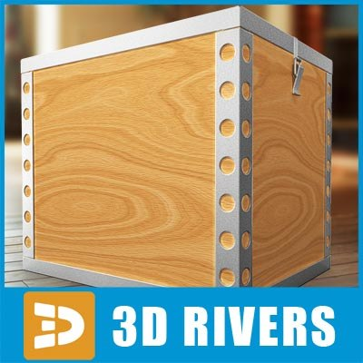 box container storage 3d max