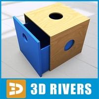drawer boxes 3d model