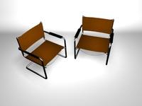 3d model metallic chair standard