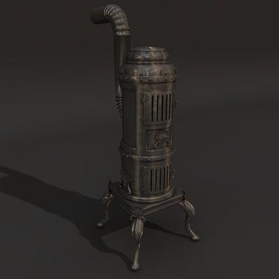 chimney stove 3d model