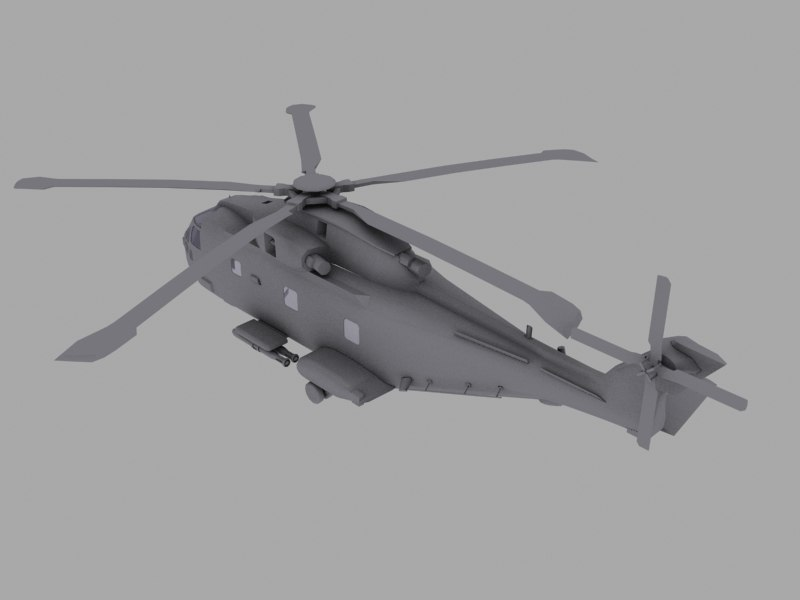 nato anti sub helicopter 3d model