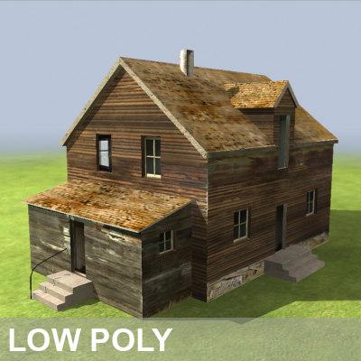 farm abandoned 3d model