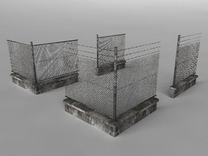 3d model of fence set