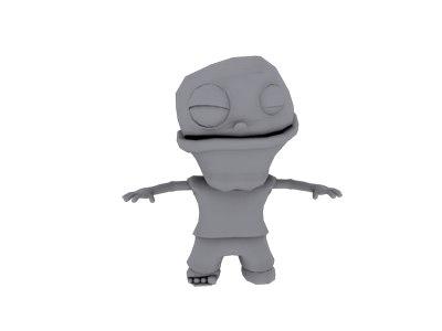 cartoon zombie 3d model
