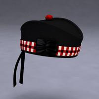 glengarry bonnet 3d model