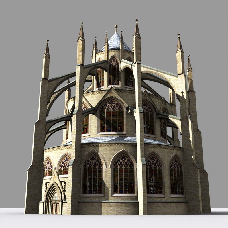 medieval gothic chapter house 3d max