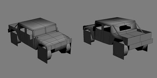3d model hummer games modeled