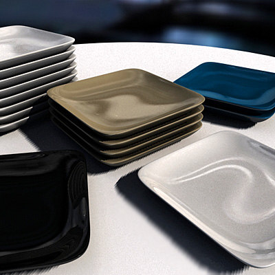 platos dishes 3d model