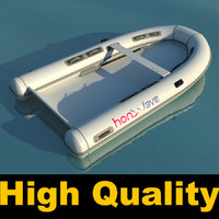 inflatable boat 3d max