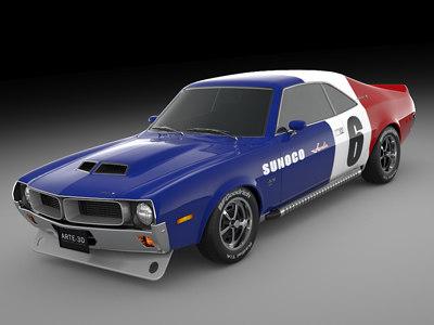 3d 1970 javelin racing model
