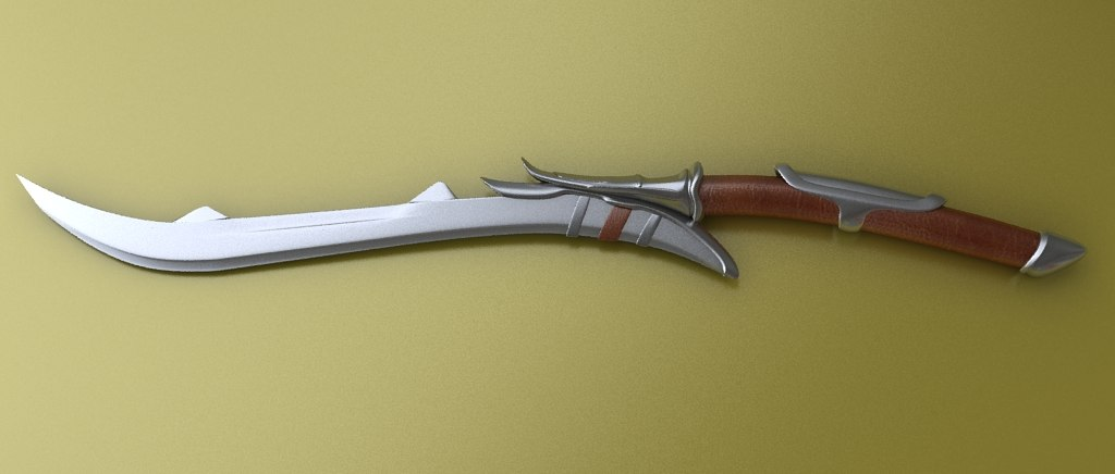 3ds max elven sword