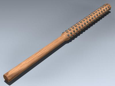 studded oak samurai 3d model