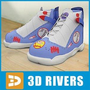 3d kids shoes model
