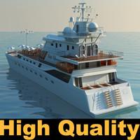 3dsmax large yacht