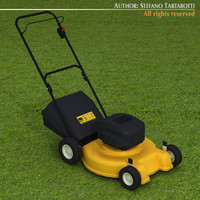 lawn mower lawnmower 3d model