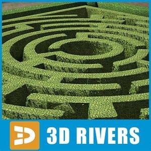 3d garden maze model