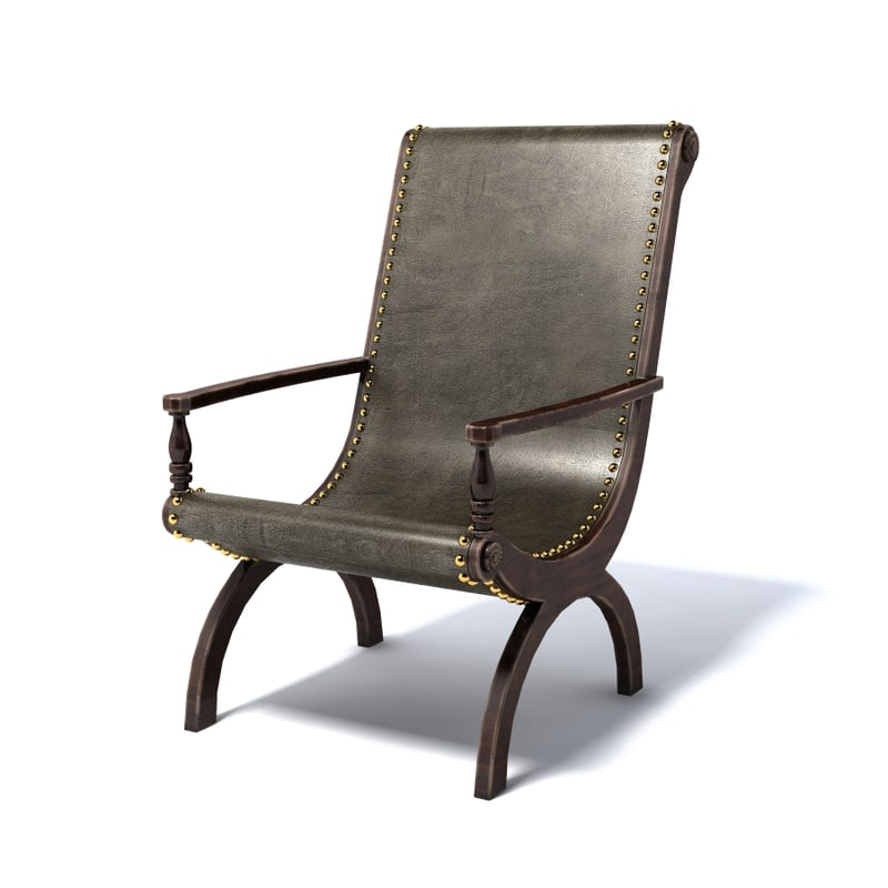 photoreal chair 3d max
