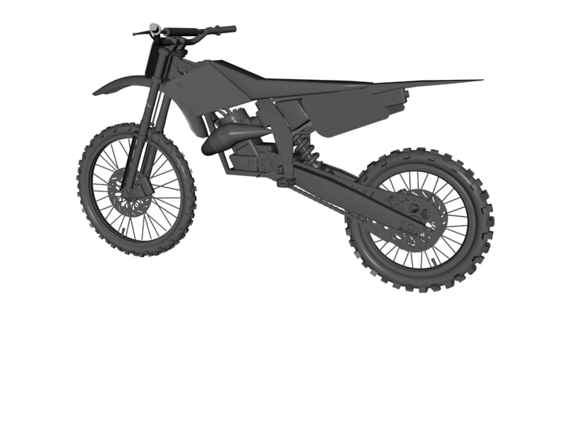 Mx Dirt Bike 3d Model