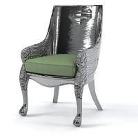 classic chair armchair 3d model