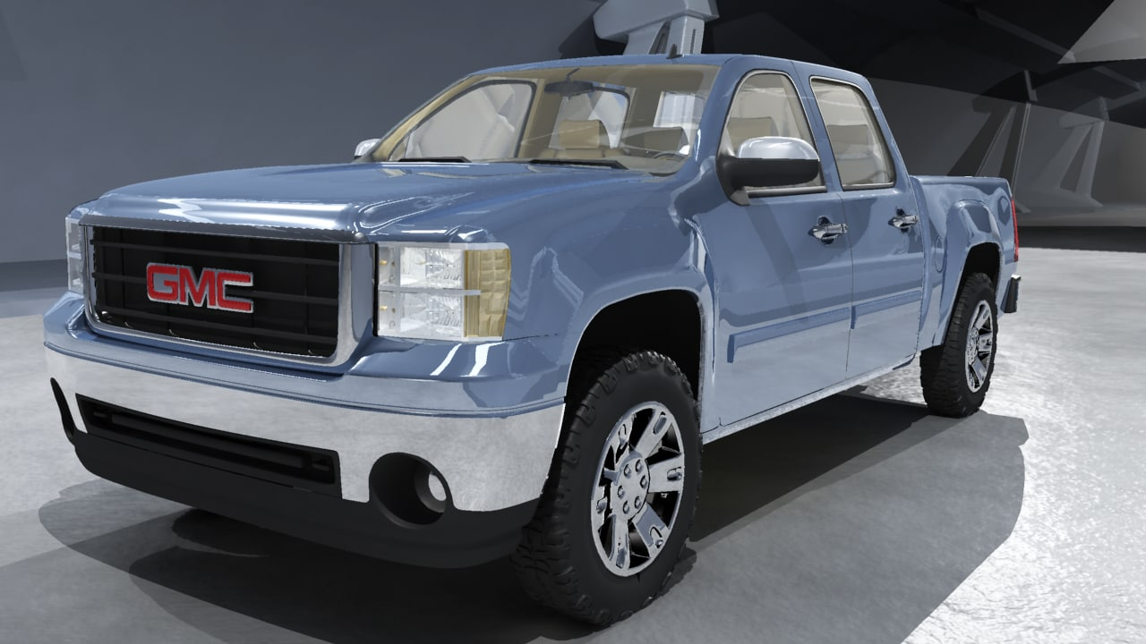 gmc sierra 2007 truck 3d model. Black Bedroom Furniture Sets. Home Design Ideas