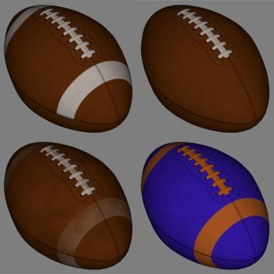 football ball polygons 3d model