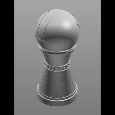 3d metal piece chess model