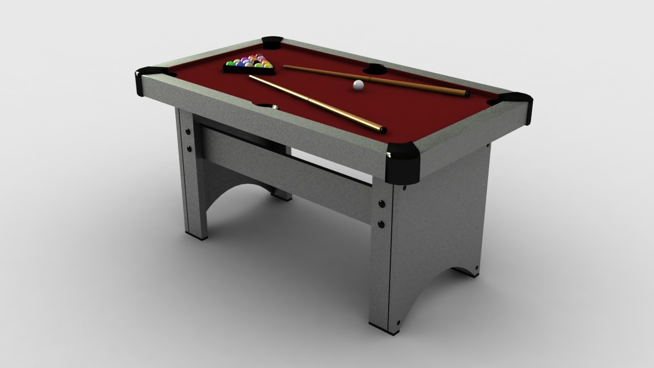 pooltable table 3d model