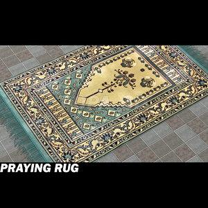 3d model islamic pray carpet