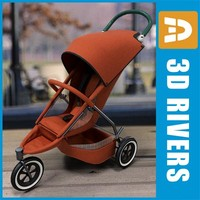 Single baby stroller by 3DRivers