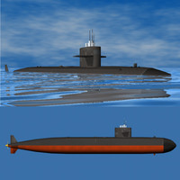 Submarine SSN-688 (Los Angeles Class)