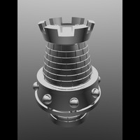 metal piece chess 3d obj