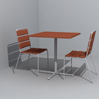 3d model food court chair dining table
