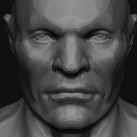 Male head in zbrush