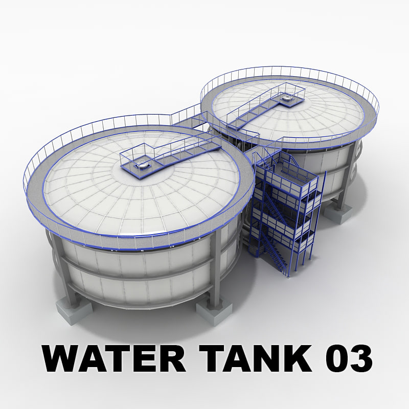 water tank 03 factory 3d model