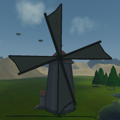 windmill 3d max