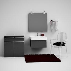 bathroom set 01 3d model