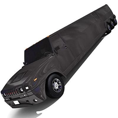 hammer limousine 3d max