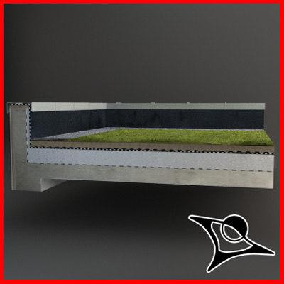 3d flat roof