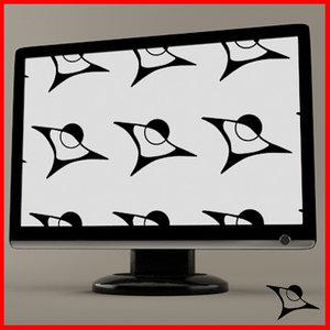 tv monitor 3d max