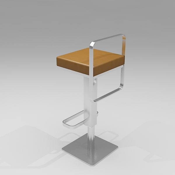 square bar stool - 3d 3ds