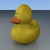 rubber ducky 3d obj
